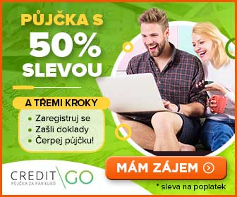 50 % sleva na půjčku CreditGo