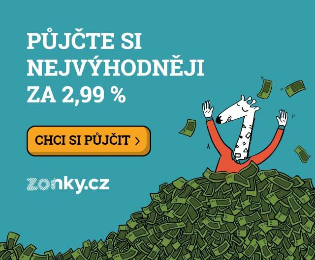 Půjčte si nejvýhodněji za 2,99 % od Zonky.cz